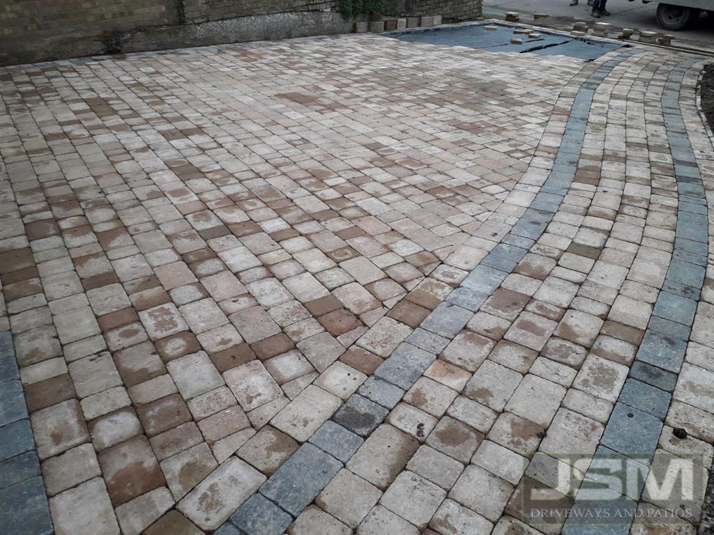 Block paving in Bletchley