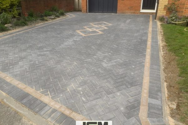 New Driveway Installation With Block Paving in Milton Keynes