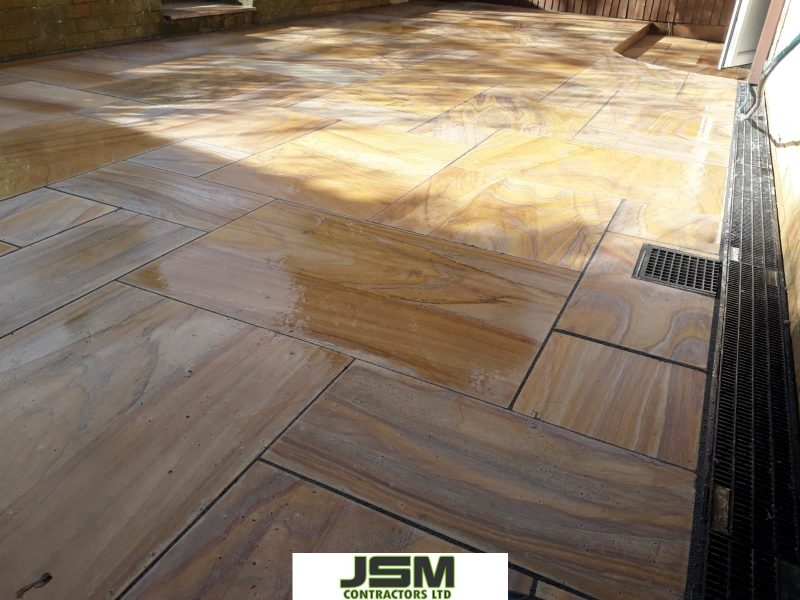 Rainbow Indian Sandstone Laid By JSM