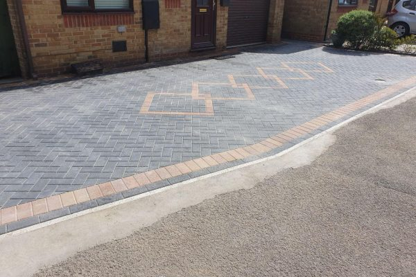 New Driveway and Entrance Way on House